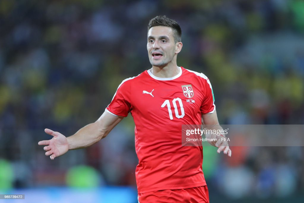 Dusan Tadic Of Serbia During The 2018 FIFA World Cup
