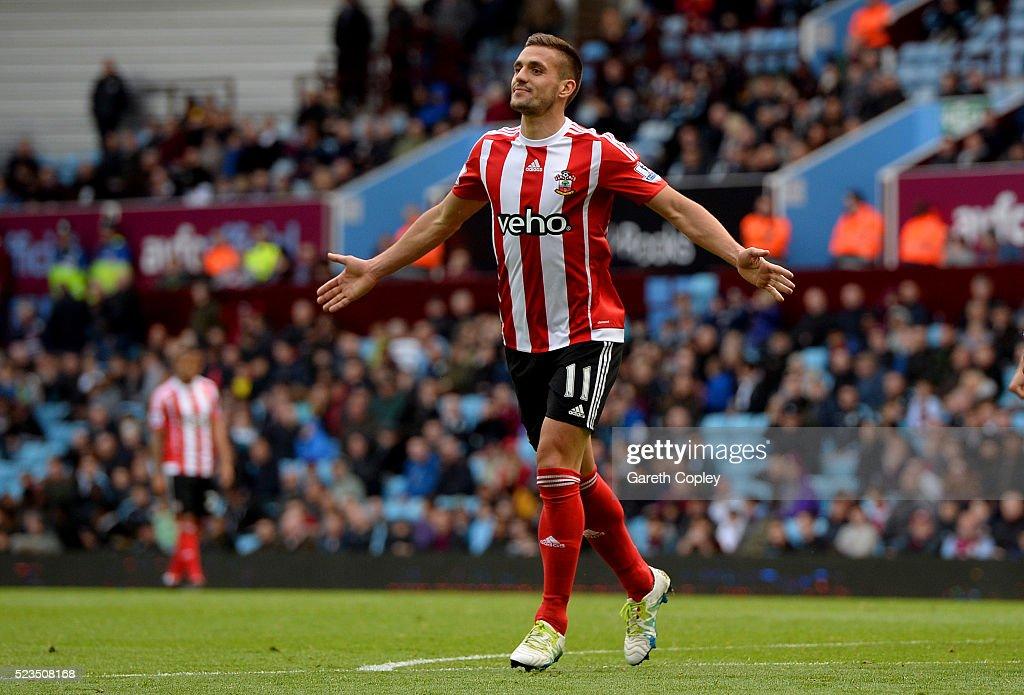 Dusan Tadic Of Southampton Celebrates Scoring His Sides