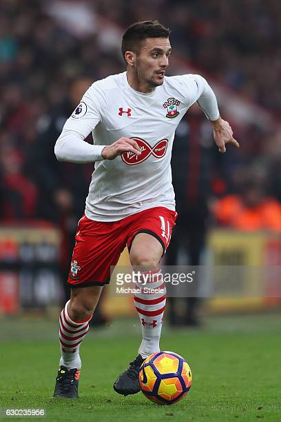 Dusan Tadic of Southampton during the Premier League match between AFC Bournemouth and Southampton at the Vitality Stadium on December 18 2016 in...