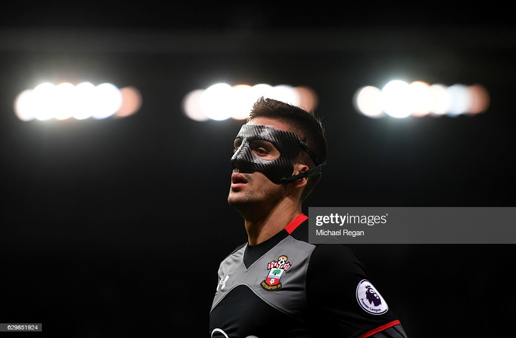 Dusan Tadic of Southampton looks on during the Premier League match between Stoke City and Southampton at Bet365 Stadium on December 14, 2016 in Stoke on Trent, England.