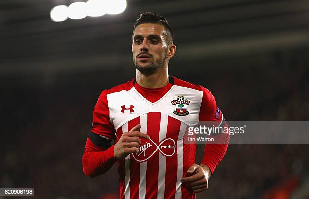 Dusan Tadic of Southampton looks on during the UEFA Europa League Group K match between Southampton FC and FC Internazionale Milano at St Mary's...