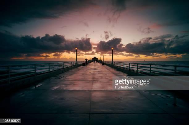 Dusk at Beach Pier