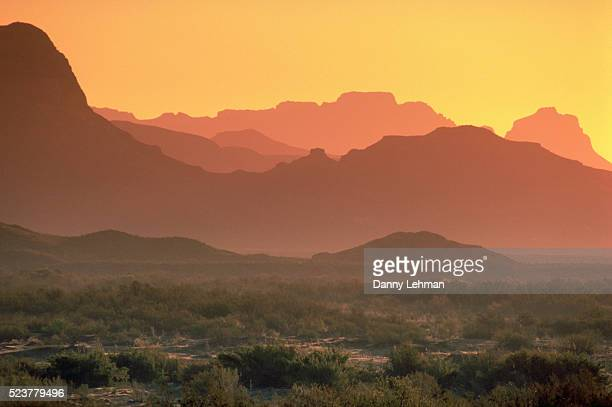 dusk at big bend national park - texas stock pictures, royalty-free photos & images