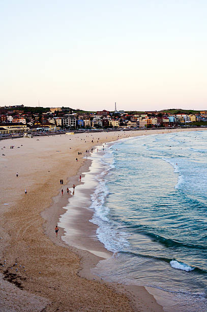 Dusk at Bondi Beach, from South Bondi.