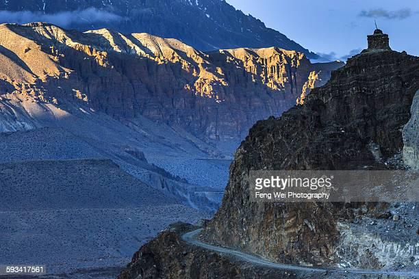 Dusk at Himalayas, Kagbeni, Upper Mustang, Nepal