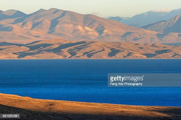 Dusk at Lake Manasarovar, Ngari, Tibet