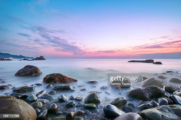 Dusk at Odoi Rock Beach