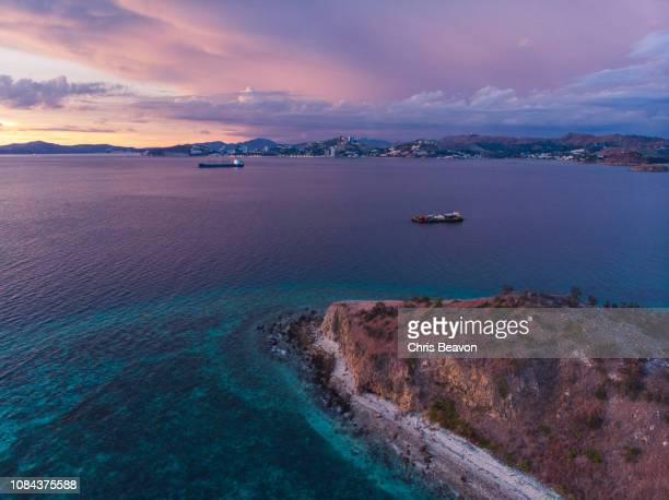 dusk at papua new guinea - port moresby stock pictures, royalty-free photos & images