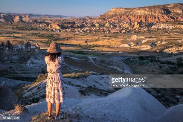 Dusk at Red Valley, Göreme, Nevsehir Province, Cappadocia Region, Central Anatolia, Turkey