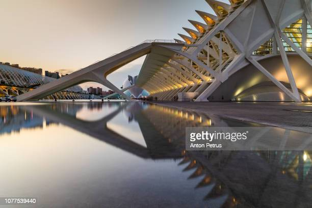 Dusk at the City of Arts and Science in Valencia, Spain