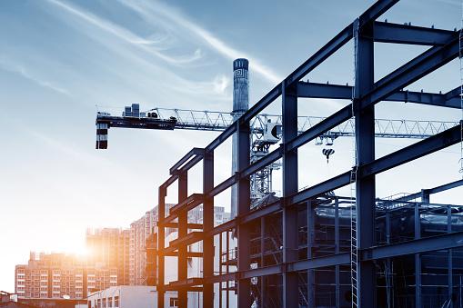 Dusk building site 1028568006