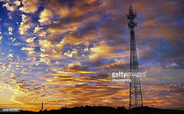 Dusk cell tower