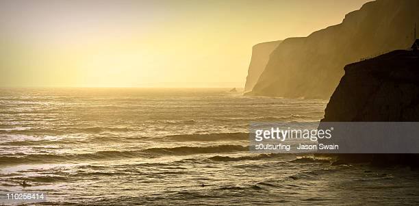 dusk - freshwater bay - s0ulsurfing stock pictures, royalty-free photos & images