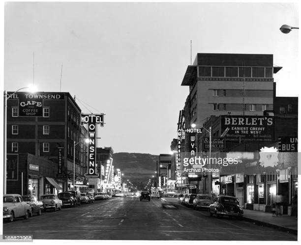 Dusk in Casper Wyoming circa 1950
