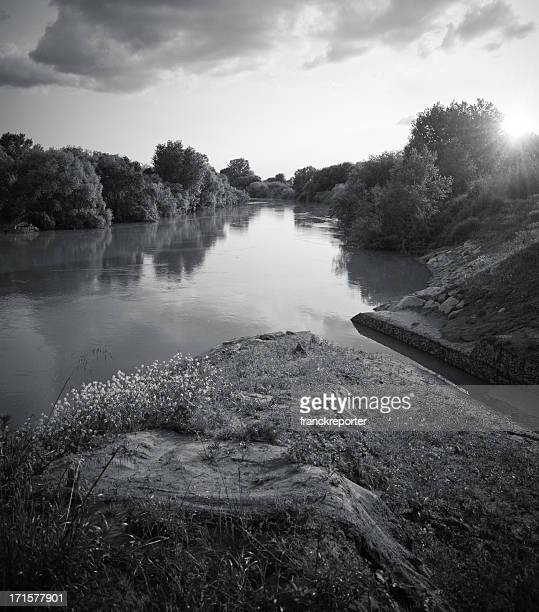 dusk in river  - wild nature - estuary stock pictures, royalty-free photos & images