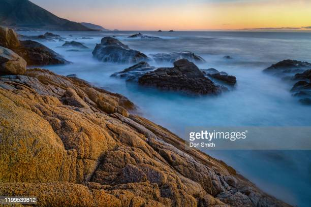 dusk over big sur coast - don smith stock pictures, royalty-free photos & images