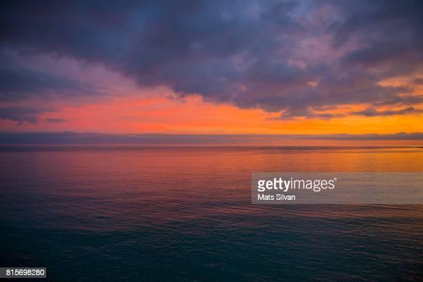 Dusk over Mediterranean sea