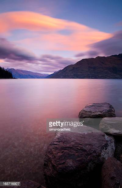 Dusk Over New Zealand Lake
