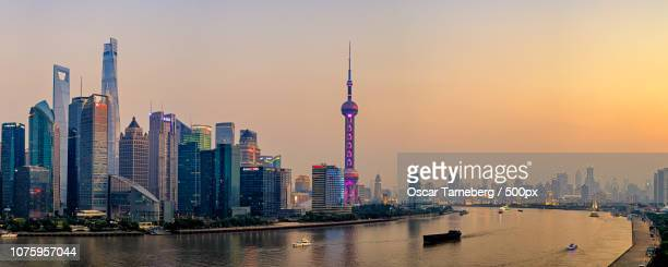 Dusk over the Huangpu river