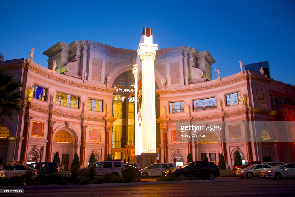 Dusk View Of Lighting On The Forum Shops At Caesars Palace