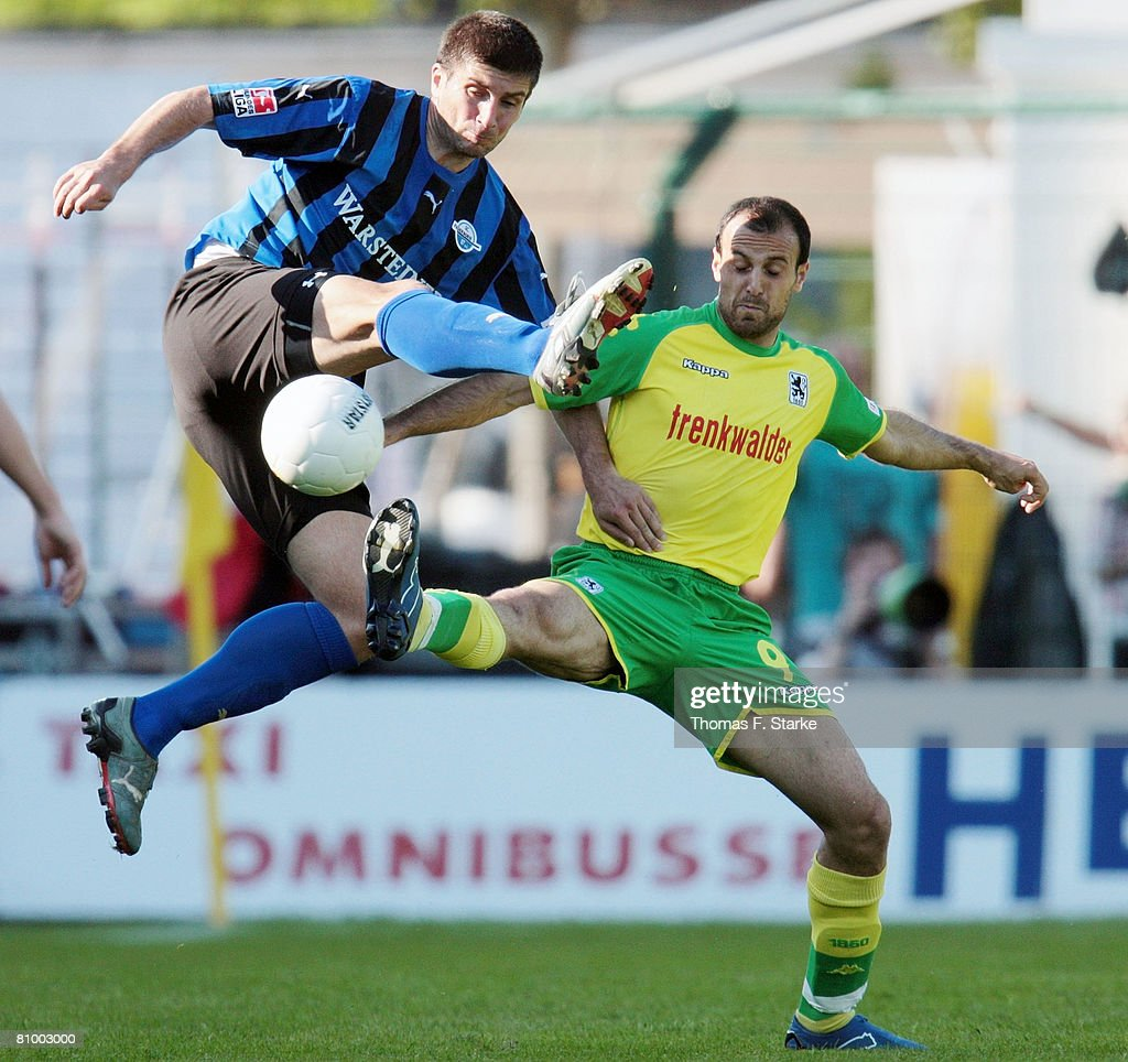 Dusko Djurisic of Paderborn and Antonio Di Salvo of Munich ...