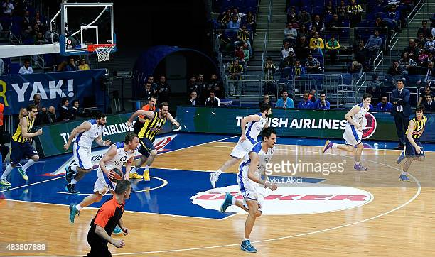 Dusko Savanovic #20 of Anadolu Efes Istanbul in action during the 20132014 Turkish Airlines Euroleague Top 16 Date 14 game between Fenerbahce Ulker...