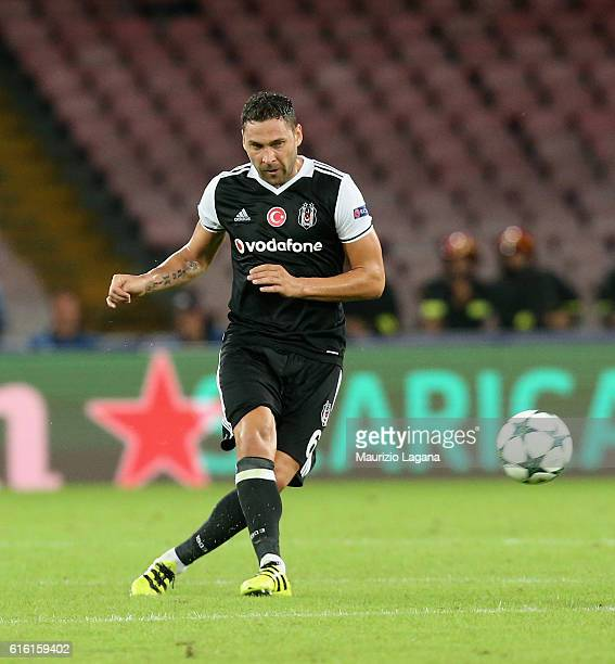 Dusko Tosic of Besiktas during the UEFA Champions League match between SSC Napoli and Besiktas JK at Stadio San Paolo on October 19 2016 in Naples
