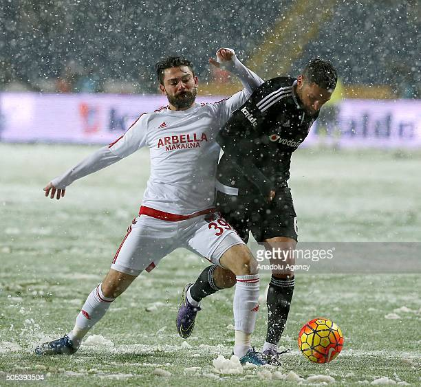 Dusko Tosic of Besiktas in action during the Turkish Spor Toto Super Lig football match between Besiktas and Mersin Idmanyurdu before the game has...