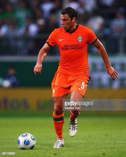 Dusko Tosic of Bremen in action during the Volkswagen Supercup final match between VfL Wolfsburg and SV Werder Bremen at Volkswagen Arena on July 20...