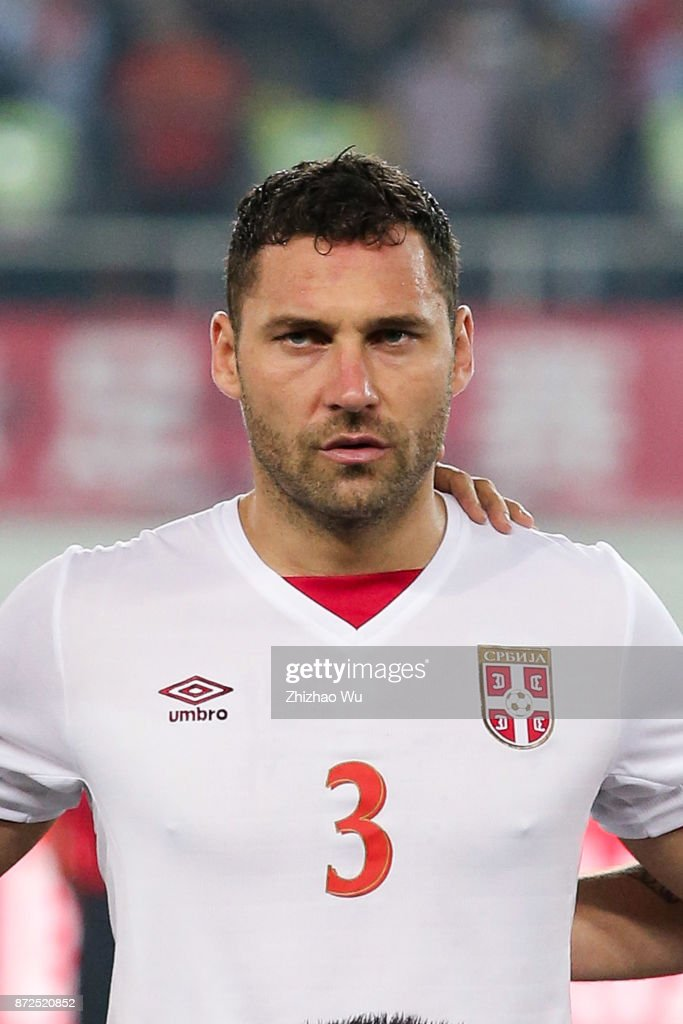 #3 Dusko Tosic of Serbia during International Friendly Football Match between China and Serbia at Tianhe Stadium on November 10, 2017 in Guangzhou, China.
