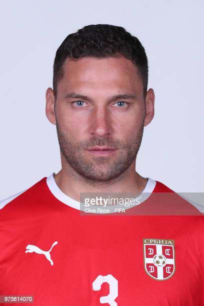 Dusko Tosic of Serbia poses for a portrait during the official FIFA World Cup 2018 portrait session at the Team Hotel on June 12 2018 in Kaliningrad...