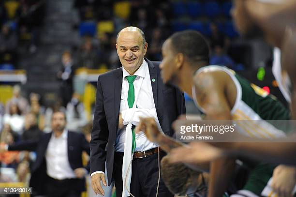Dusko Vujosevic coach of Limoges during the Basketball Pro A match between Paris Levallois and Limoges on October 9 2016 in Paris France