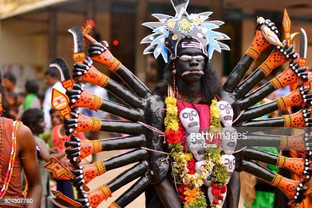 dussehra festival in kulasekarapattinam village. - dussehra - fotografias e filmes do acervo