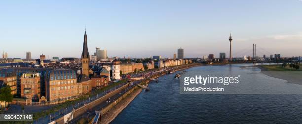 dusseldorf aerial image series - düsseldorf stock pictures, royalty-free photos & images