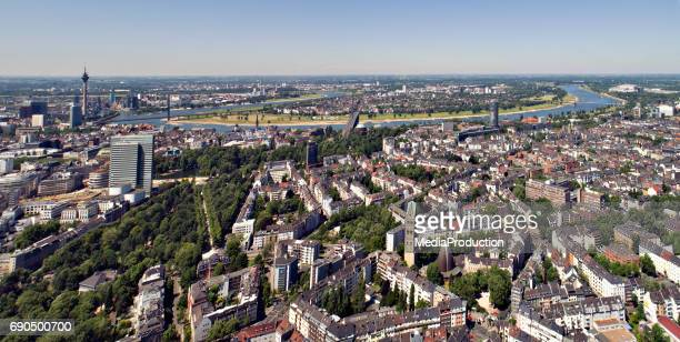 dusseldorf aerial view series - düsseldorf stock pictures, royalty-free photos & images