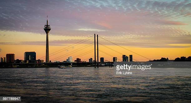 Dusseldorf, Germany at sunset