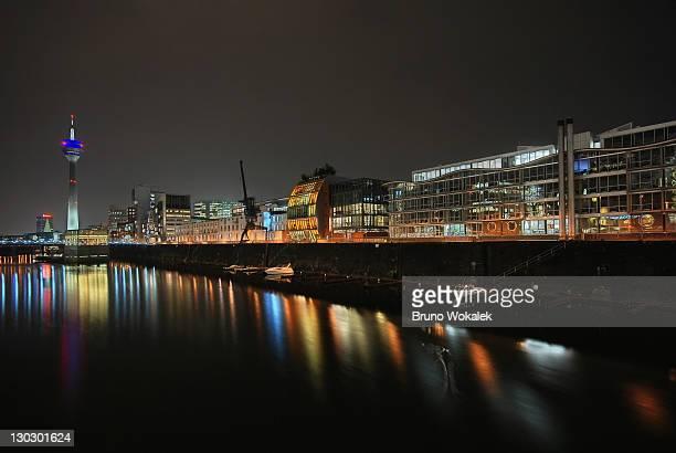 Dusseldorf in night