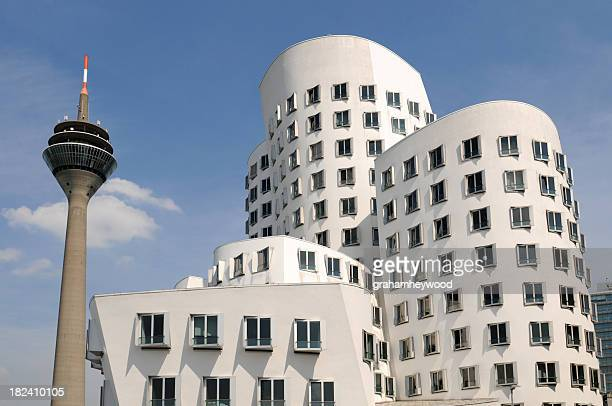 dusseldorf offices - düsseldorf stock pictures, royalty-free photos & images