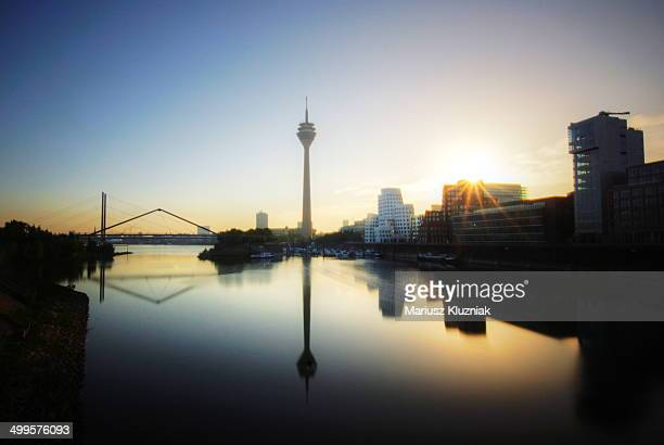 dusseldorf sunrise - historical geopolitical location stock photos and pictures