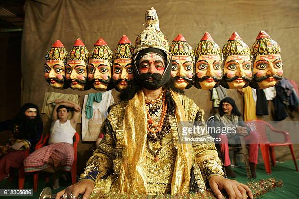 Dussera Dusshera An artists dressed up as th 10 faced Ravana from the mythological Ramayana at Shivaji Park for a Ram Lila show on the occasion of...