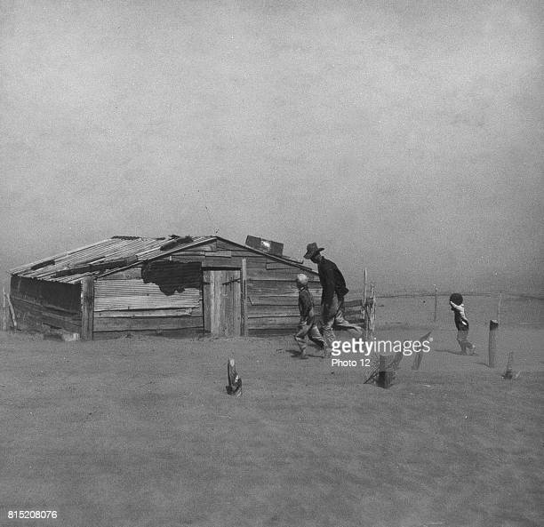 Dust Bowl in America, 1930.