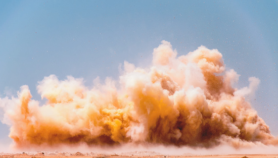 Dust clouds of the blasting 1126597441