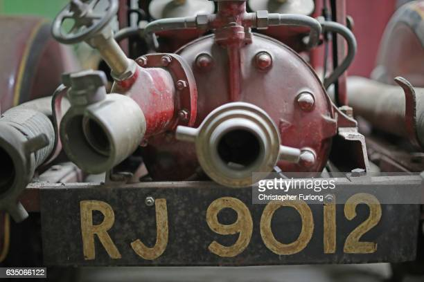 Dust covers the untouched fire fighting pump in the hidden fire station of a Black Country factory on February 13 2017 in Dudley England A fire...