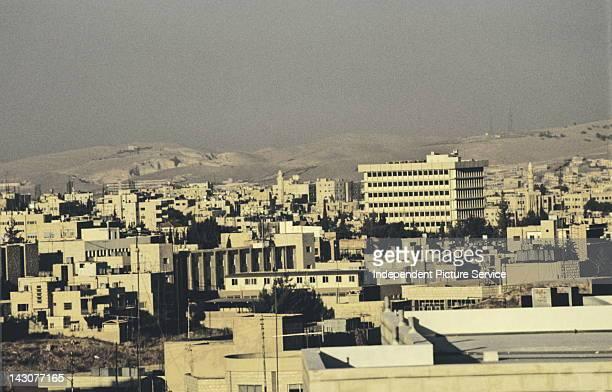 Dust haze and air pollution over Amman Jordan