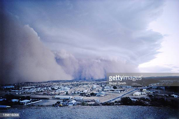 dust storm, alice springs - dust storm stock pictures, royalty-free photos & images