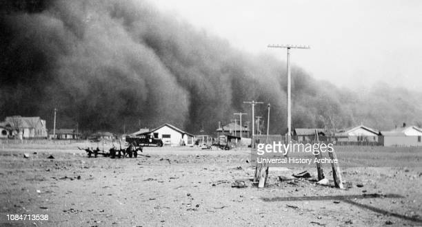 Dust Storm Baca County Colorado USA DL Kernodle Farm Security Administration April 14 1935