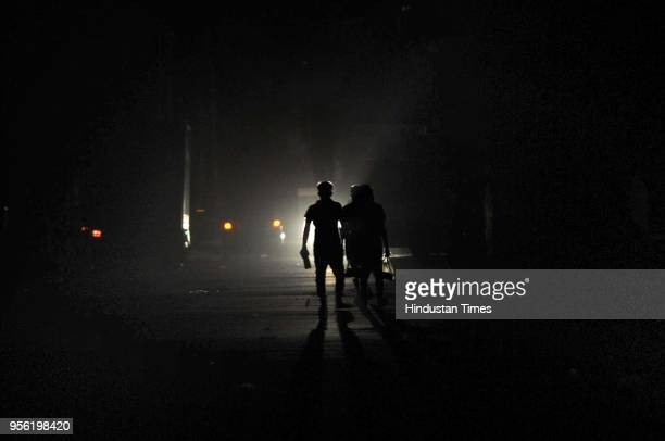 Dust storm caused blackout in the city on May 8 2018 in Noida India Dust storms rain and thunder lashed out in parts of northern India uprooting...