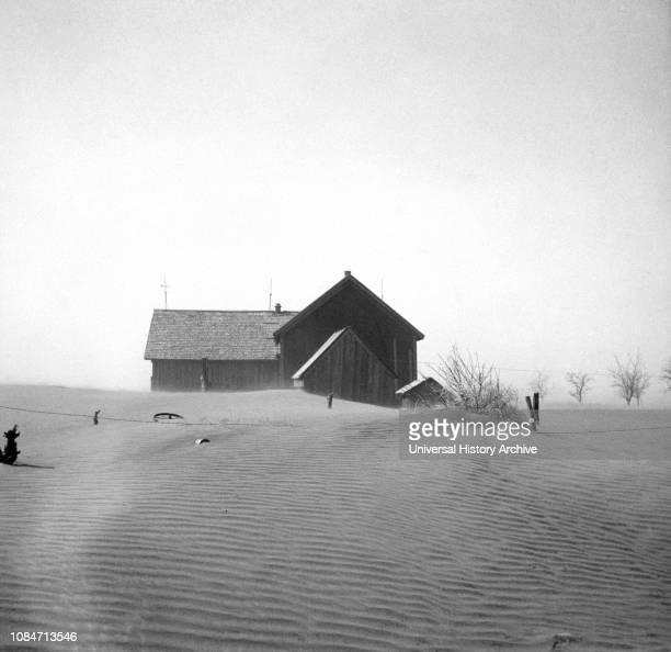 Dust Storm Damage Cimarron County Oklahoma USA Arthur Rothstein Farm Security Administration April 1936