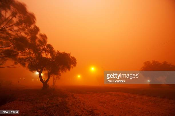 dust storm in the australian outback - dust storm stock pictures, royalty-free photos & images