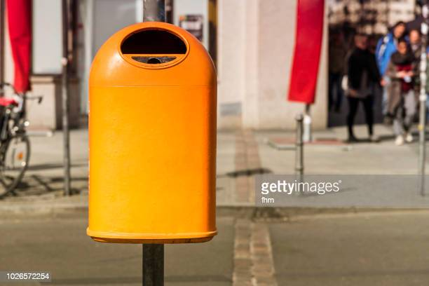 dustbin - garbage can stock photos and pictures